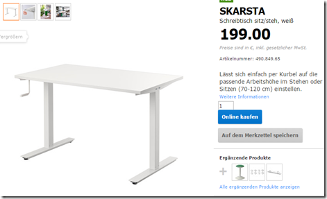 Hack Correlation: Ikea SKARSTA sit/standing desk hack