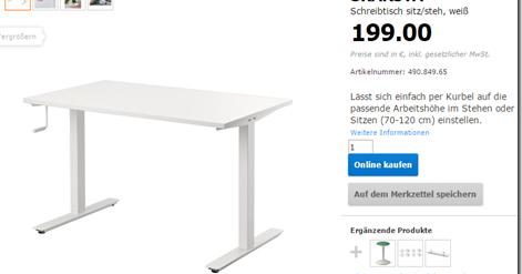 Hack Correlation Ikea Skarsta Sit Standing Desk Hack