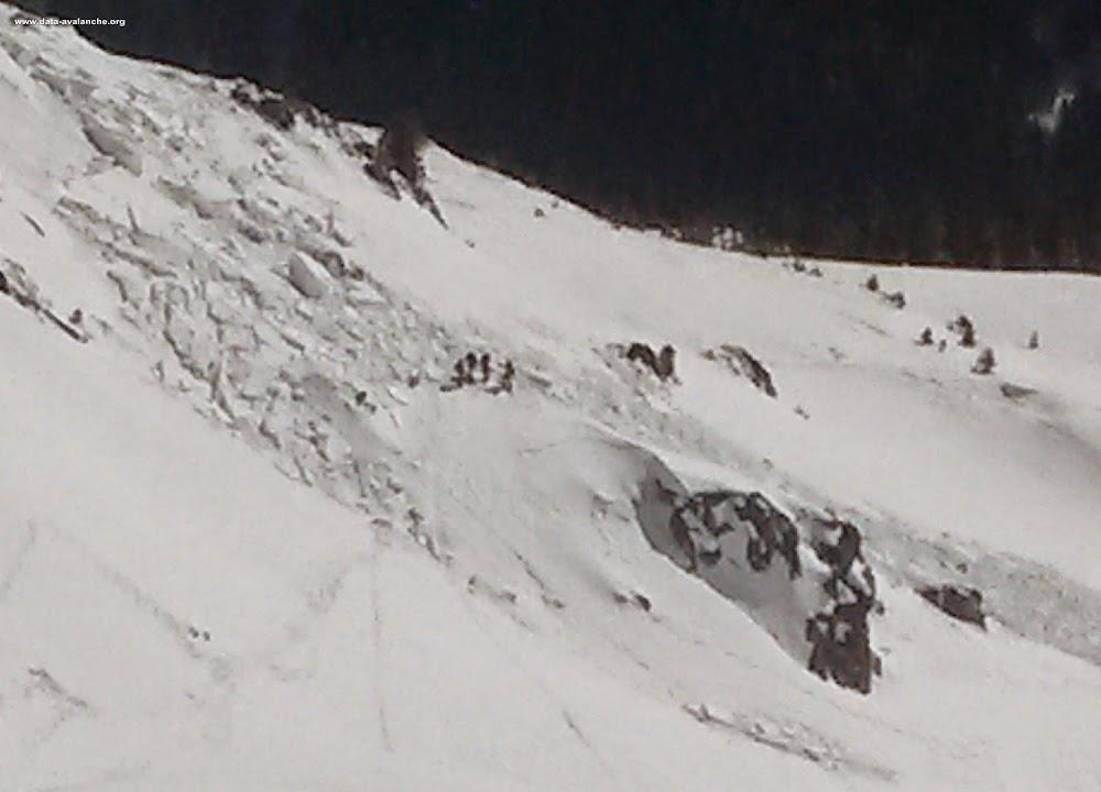 Avalanche Aiguilles Rouges, secteur Flégère, A l'est de la tête Aubuy - Photo 1