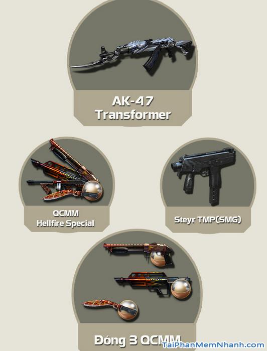 Vũ khí mới trong bản cập nhật đột kích cf 1192