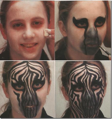 maquillaje de cebra