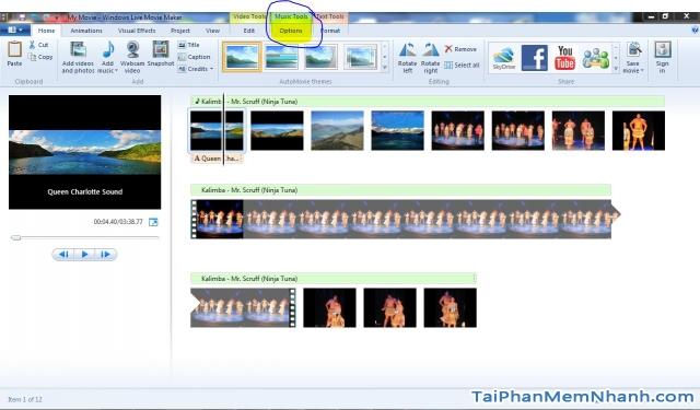 Windows Movie Maker là phần mềm làm phim, tạo video đơn giản cho người mới