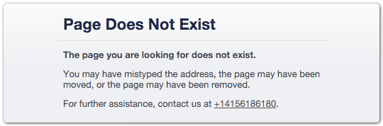 Page Does Not exist