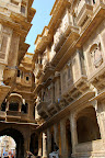 In Jaisalmer we visted some Havelis, which are old private mansions. Some are now open to the public.