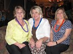 Alumnae Stacey McMullen, Judy Harvey and Fran Gauer.