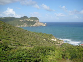 View of the ocean off St. Lucia