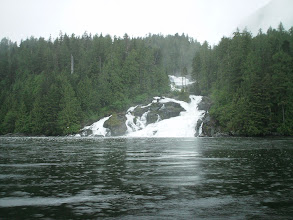 Photo: Butedale Falls on Fraser Reach.
