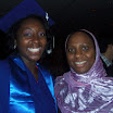 2012 Commencement (Dr. Barro with Katrina Mitchell/B.A. Global Studies and Senegal Study Abroad student)