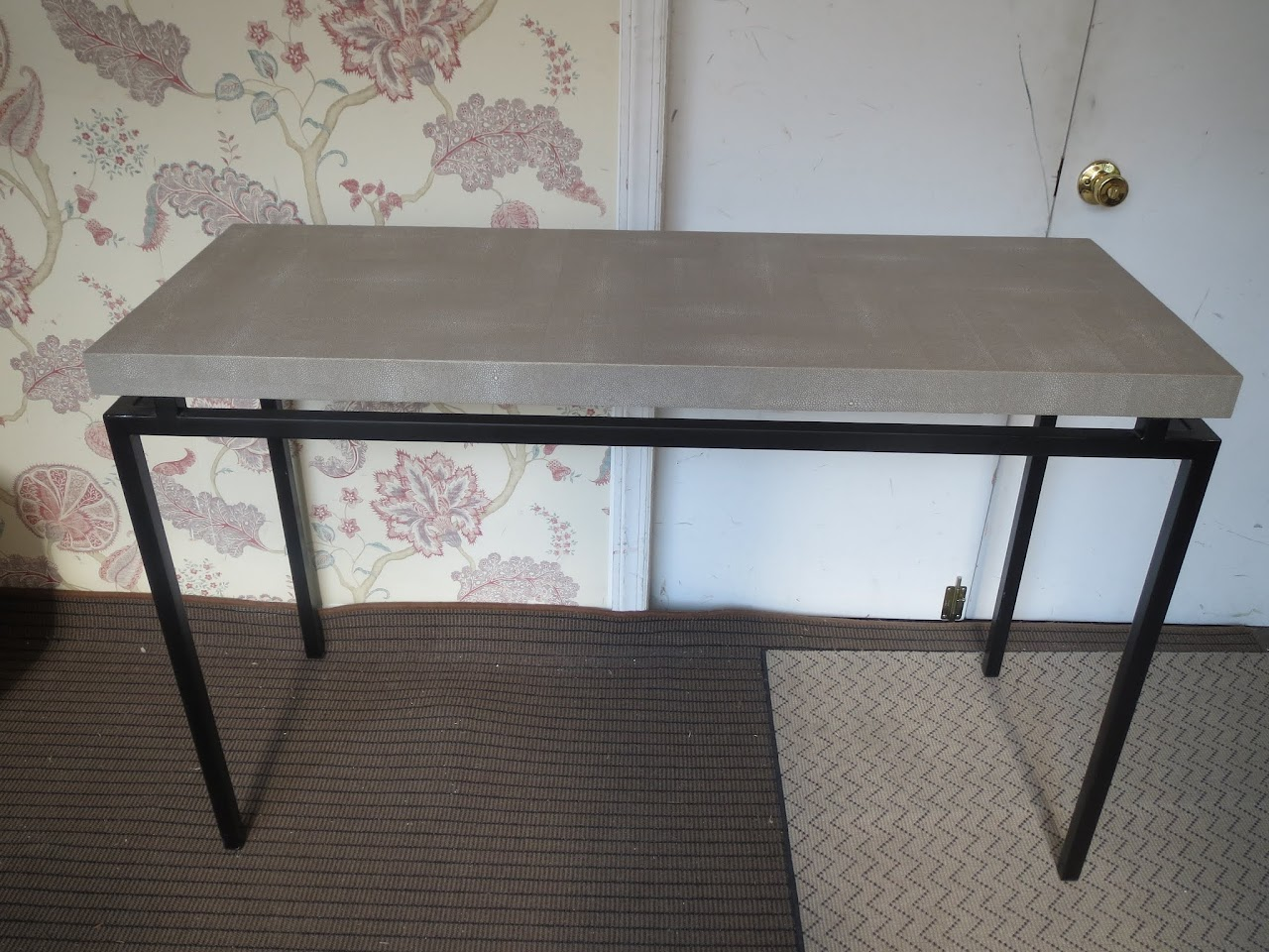Faux Shagreen Console