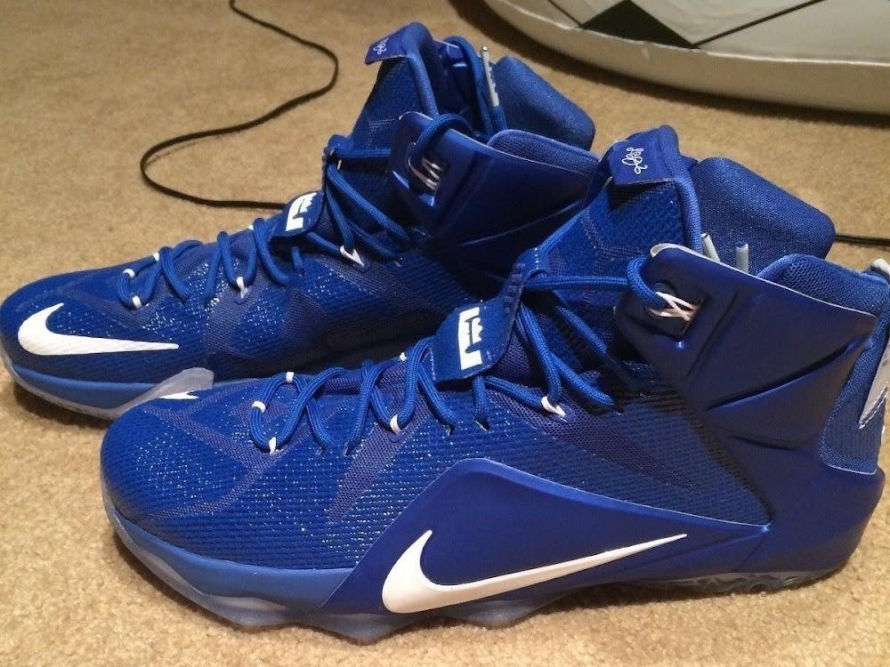 Nike LeBron 12 Kentucky Wildcats Away PE Available on eBay ... a7fbf2f3580e
