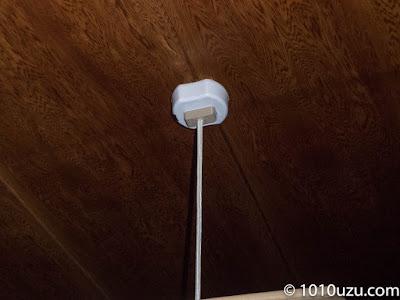 リモコンに照明を取りつけたところ