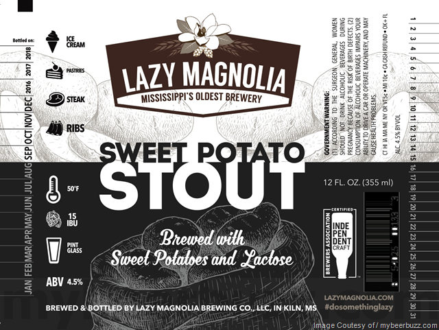 Lazy Magnolia Sweet Potato Stout