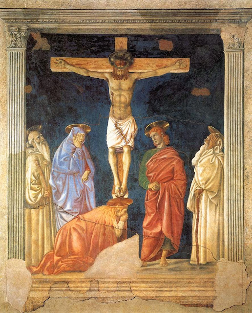 Andrea del Castagno - Crucifixion and Saints