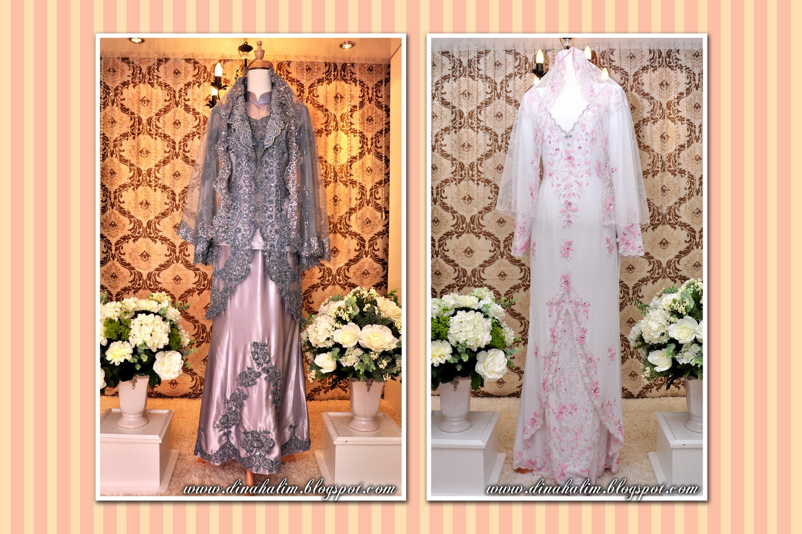 Baju Sanding Eksklusif Grey manik Silver & Baju Jojet Silk Putih manik ...
