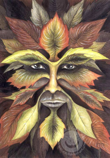 Leaves Face, Celtic And Druids
