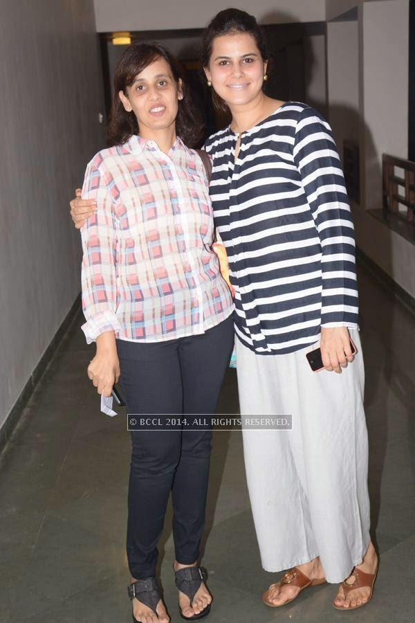 Akansha Singhania and Nidhi Kale during the play ''Uncle Vanya'', held at Chitnavis Centre, in Nagpur.