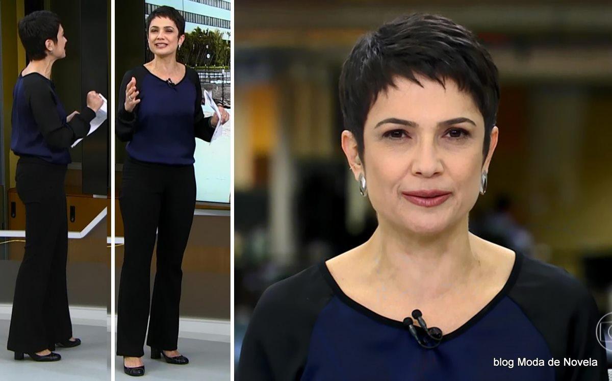 moda do programa Jornal Hoje - look da Sandra Annenberg dia 16 de junho