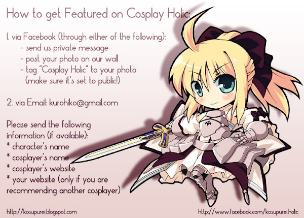 how to get featured on cosplay holic
