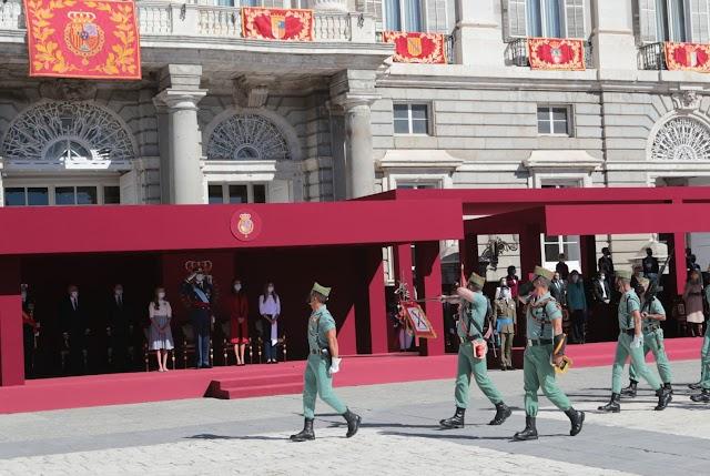 La Legión, en Madrid durante el Día de la Hispanidad.