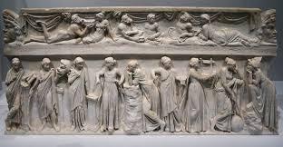 The nine Muses on a Roman sarcophagus