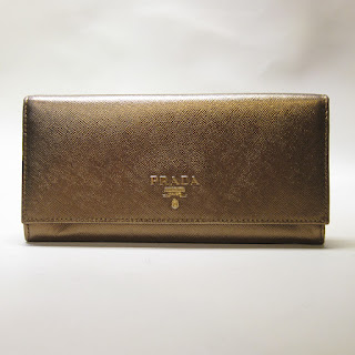 Prada Metallic Wallet