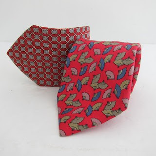 Hermès Silk Tie Red Duo