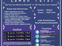 """ANTOLOGI : LOMBA PUISI 2021""""The Way You Motivate Yourself Is The Way You Love Yourself"""