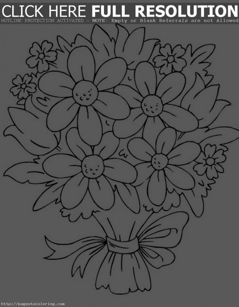 Top 10 Easy Rose Flower Coloring Pages Free - Kids, Children and ...