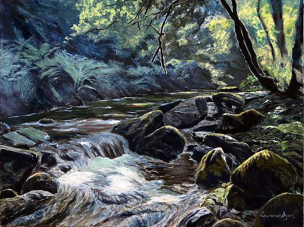 River Taw Sticklepath. Artist Lawrence Dyer