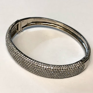 Sterling Silver & Crystal Bangle
