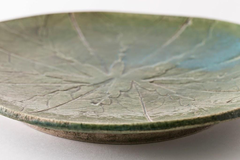 Oval Midori Ha Leaf Plate Green