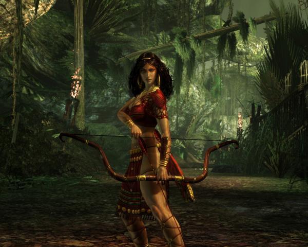 Girl Archer In Jungle, Fairies 2