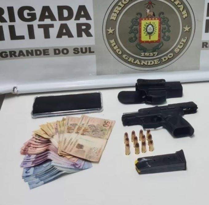 Brigada Militar prende homem em posse de pistola 9 mm em Cachoeirinha