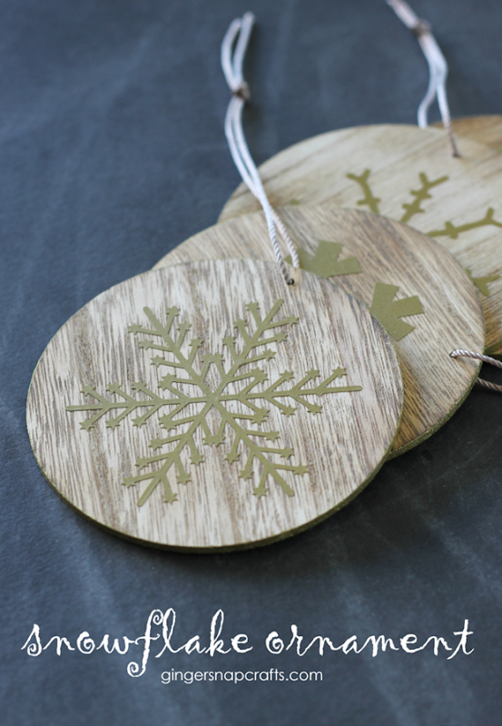 Snowflake Ornament at GingerSnapCrafts.com #DIY #ornament