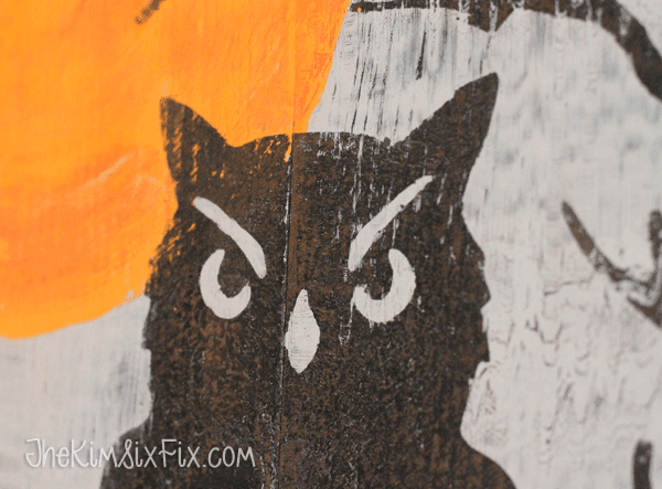 Distressed owl wood art