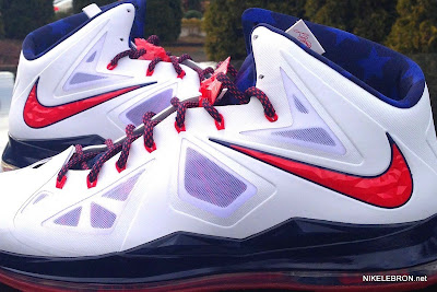 nike lebron 10 pe usa basketball 3 06 PE Spotlight: Nike LeBron X USA Basketball Red Swoosh