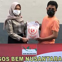 Bantu Sesama Saat Pandemi COVID-19, BEM NUSANTARA DIY Salurkan Bansos