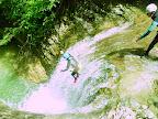 Premier saut du canyon de la partie intermédiaire des Ecouges