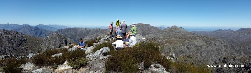 Banghoek Peak - view to the south