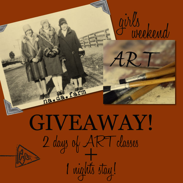 girl's weekend art + shop + stay GIVEAWAY!!!