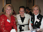 Lana Holley, Megan Lamb and Lynn Buchwald enjoy the Chi party.