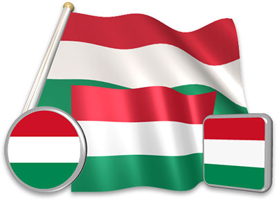 Hungarian flag animated gif collection
