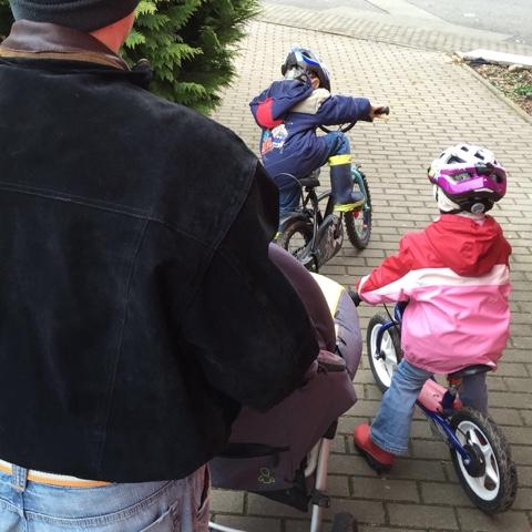 Fahrradausflug mit den Kindern