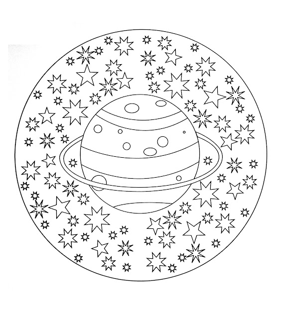 Free Coloring Page Freemandalatocolorplanetstars Free