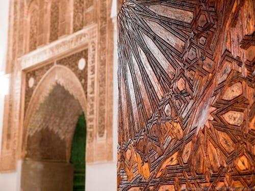 Doorway in tomb Marrakesh