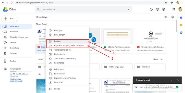 Cara Berbagi File Google Drive Kepada Orang Orang Lain