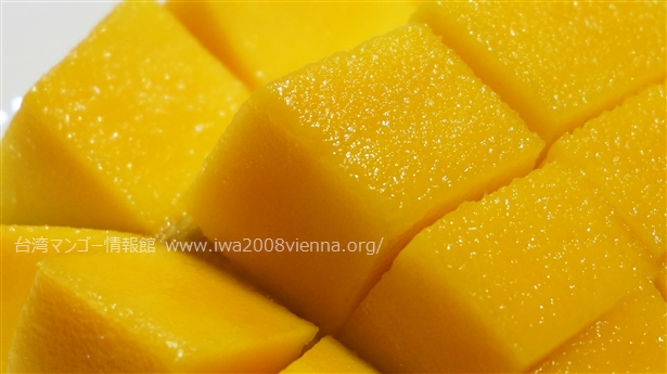 蘋果芒果さいの目切りアップ画像