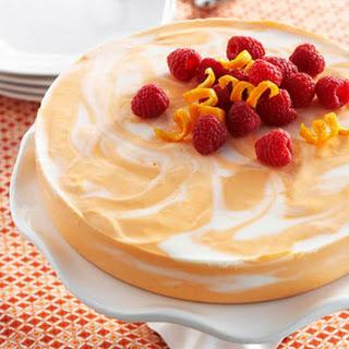 Orange Swirled Cheesecake