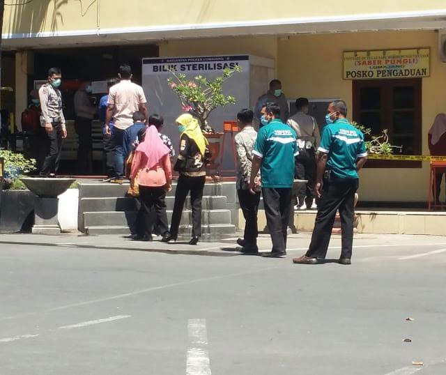 Wajib Bagi Semua Anggota dan Masyarakat Sterilisasi Sebelum Masuk Mapolres