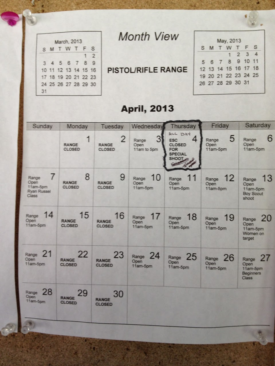 April 13, 2013 -- we are on the Calendar!